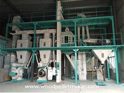 ring die wood pellet production line