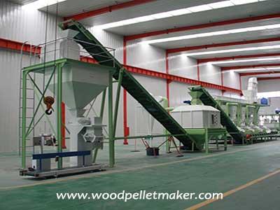 wood pellet production line factory