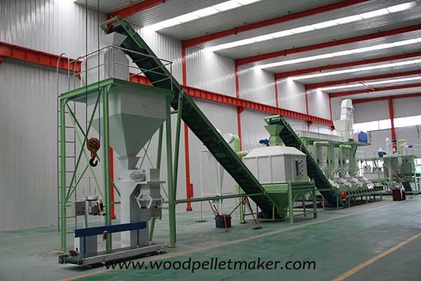 complete wood pellet plant