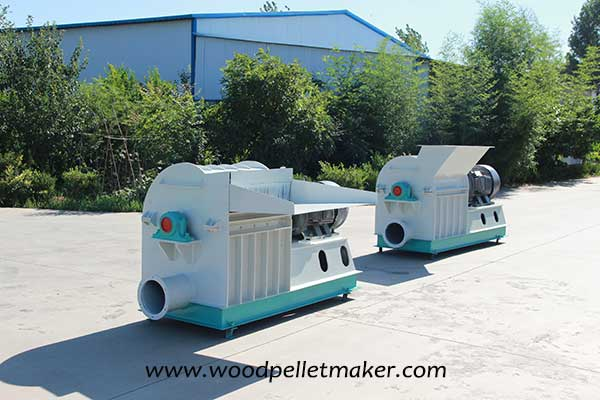 wood hammer mill on production line